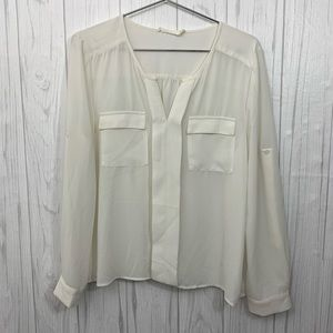 LUSH NORDSTROM  SOLID WHITE TUNIC SIZE SMALL